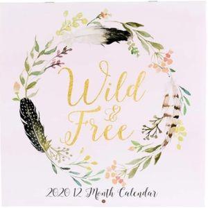 Wild & Free 2020 Calendar (12 months)🧡